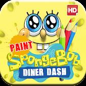 Sponge Dinner Paint