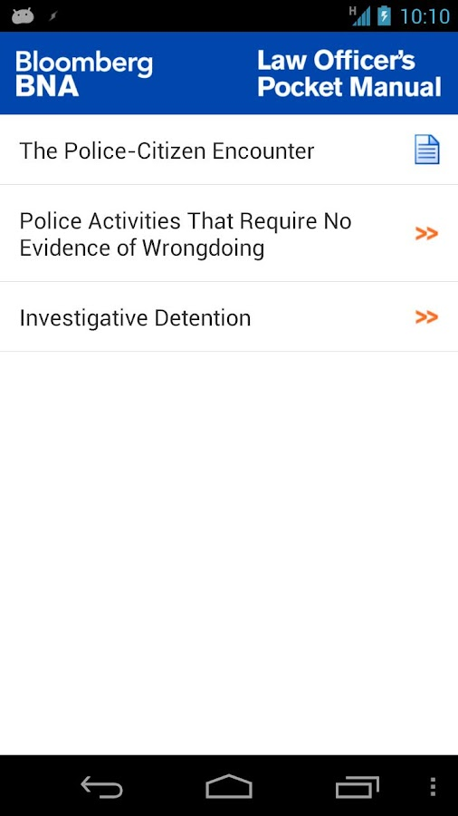 Law Officer's Pocket Manual - screenshot