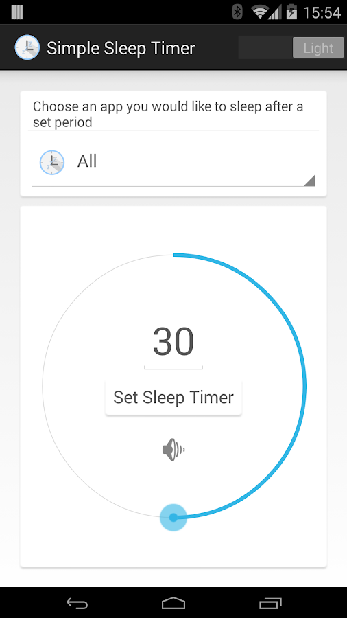 Super Simple Sleep Timer - screenshot