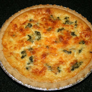 Two-Cheese Spinach And Bacon Quiche.