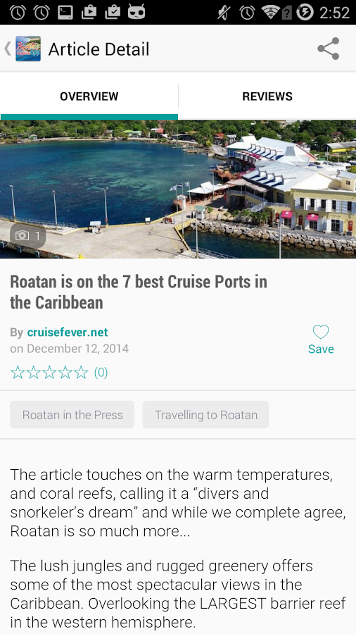 Roatan App- screenshot