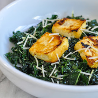 Miso Kale Salad With Miso Roasted Tofu