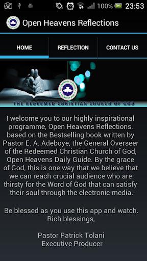 Open Heavens Reflections