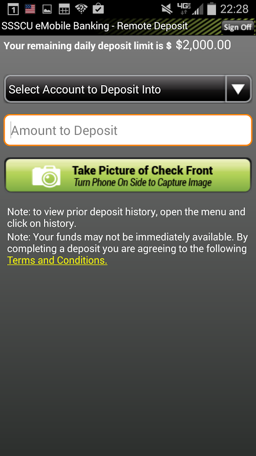 SSSCU Mobile Banking- screenshot