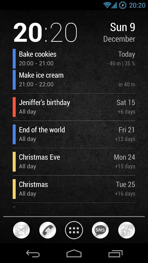 Neat Calendar Widget- screenshot