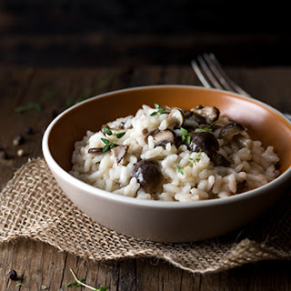 Mushroom Risotto with Cracked Black Pepper