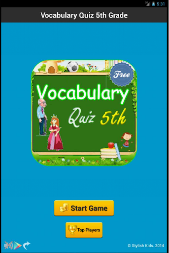 Vocabulary Quiz 5th Grade