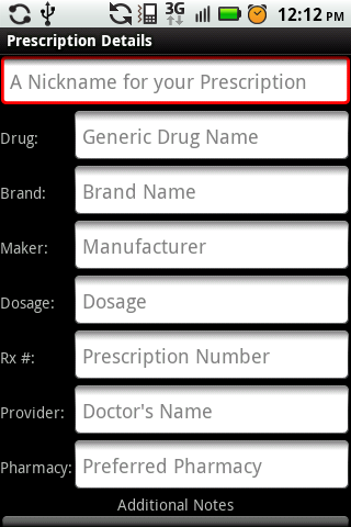 My Rx Info - screenshot