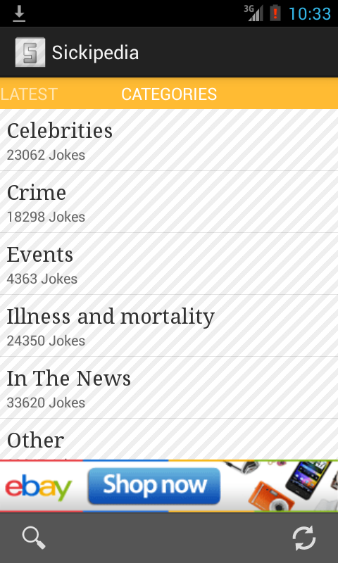 Sickipedia - Funny Jokes App - screenshot