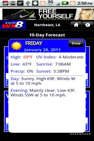 KNOE 8 WX - screenshot