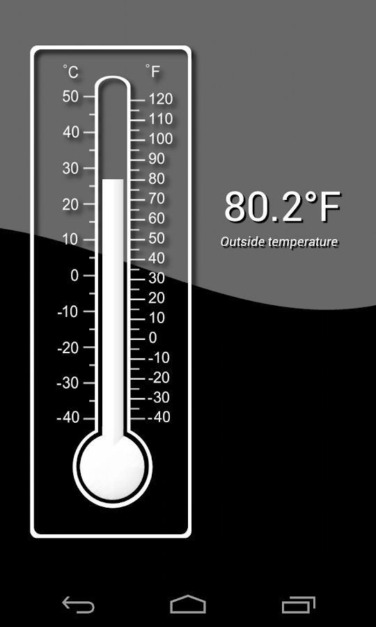 Thermometer (+ Status Bar) - screenshot
