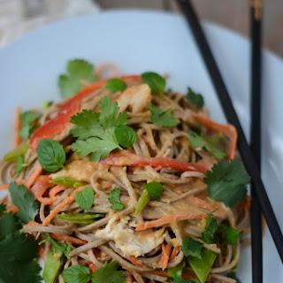 Spicy Chicken Peanut Soba Noodle Salad