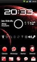 Screenshot of GO Launcher Theme Black & Red
