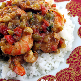 Shrimp and Sausage Jambalaya.
