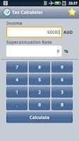 Screenshot of Easy Australian Tax Calculator