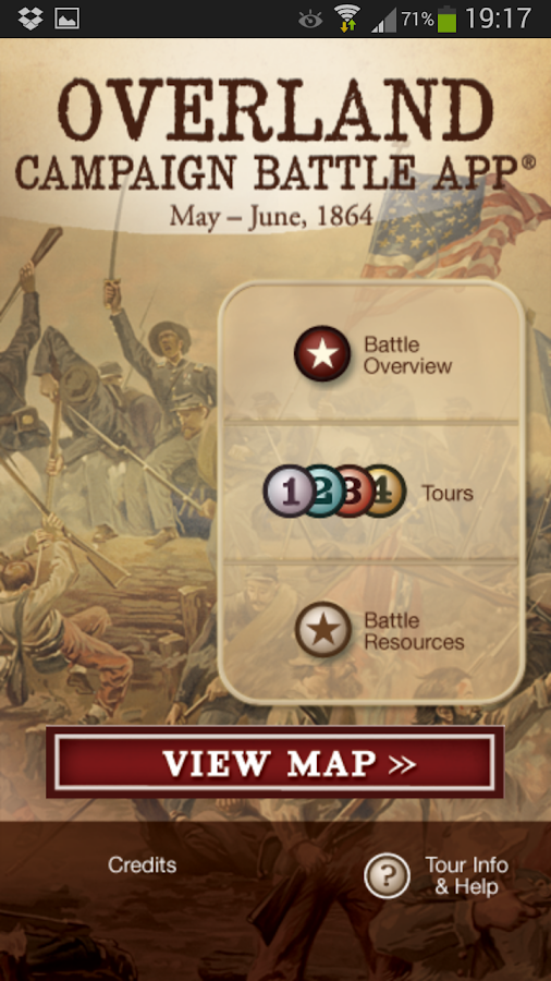 Overland Campaign Battle App- screenshot