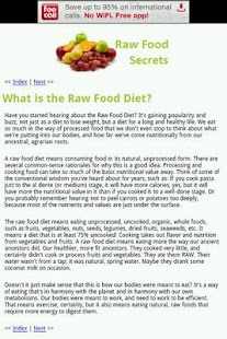 Raw Food Secrets - screenshot thumbnail