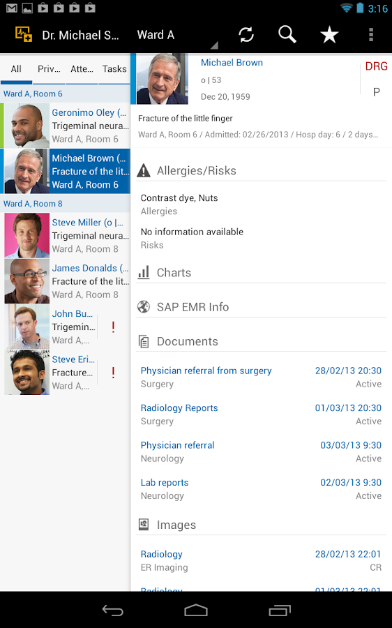SAP EMR Unwired - screenshot