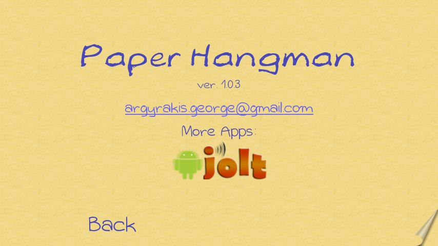 Paper Hangman Free (English)- screenshot