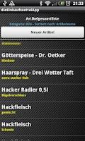 Screenshot of theShoppingListApp