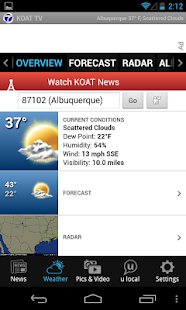 KOAT Albuquerque news, weather - screenshot thumbnail