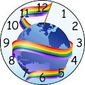 Gay and lesbian clock icon