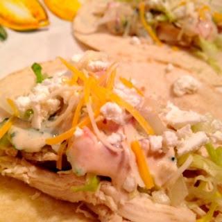 Healthy Shredded Chicken Tacos.