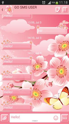 GO短信加强版的花