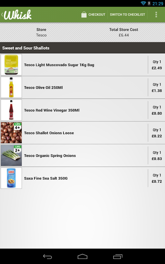 Whisk - Recipes - screenshot