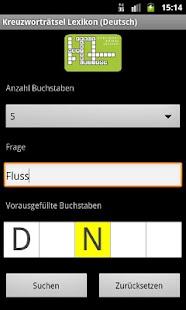 Crossword Dictionary (German)- screenshot thumbnail