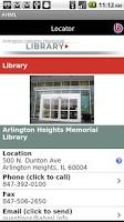 Screenshot of Arlington Heights Library