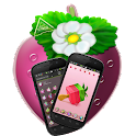 Strawberry cake Go Launcher EX logo