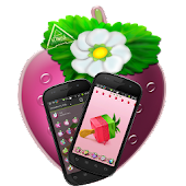 Strawberry cake Go Launcher EX