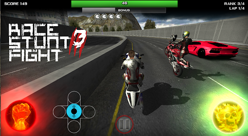 Race Stunt Fight 3!    ★FREE★ Screenshot 1