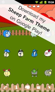 Sheep Farm Theme GO Locker - screenshot thumbnail