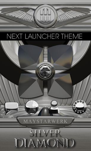 Next Launcher theme Silver Dia