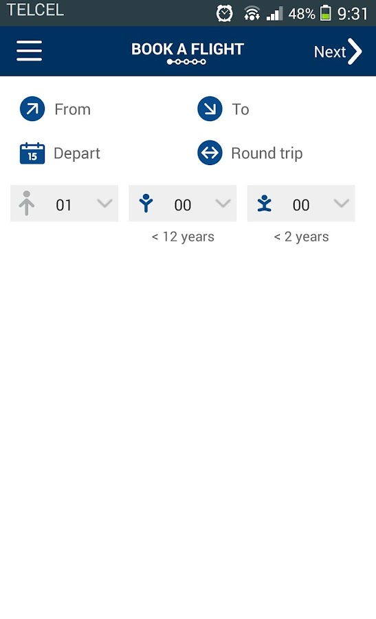 Aeromexico Mobile - screenshot