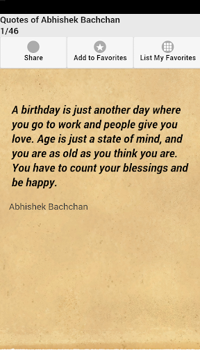 Quotes of Abhishek Bachchan