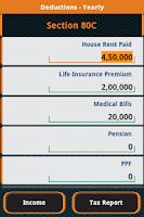 Screenshot of Income Tax Calculator