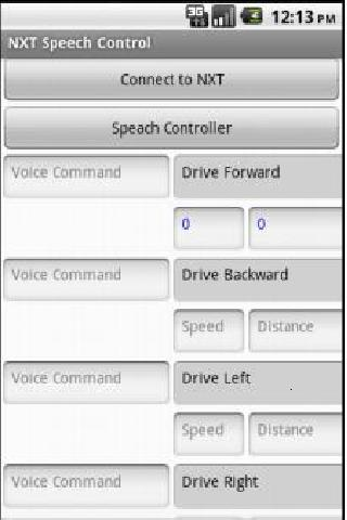 NXT Speech Control - screenshot