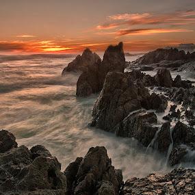 Cape Sunset by David Morris - Landscapes Waterscapes