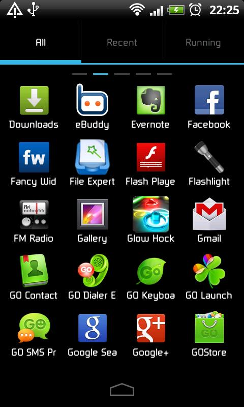 ICS GO Launcher EX Theme - screenshot