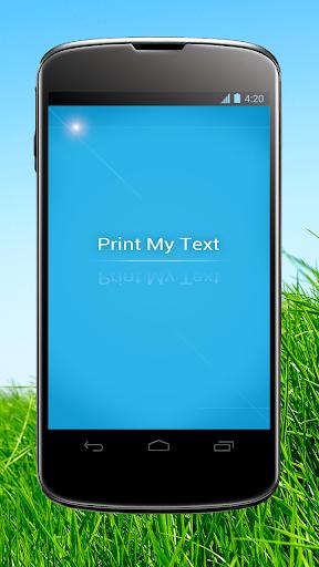 【免費工具App】Print My Text-APP點子