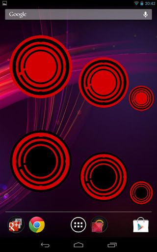 Red Circle Clock Widget