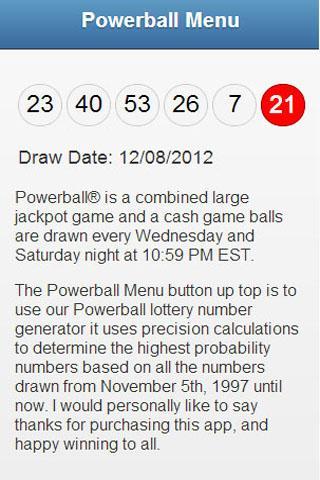 Powerball Lottery Generator