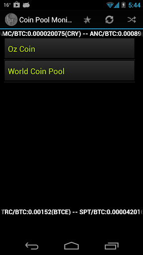Coin Pool Monitor Version P