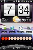 Screenshot of Battery Health Bar Widget