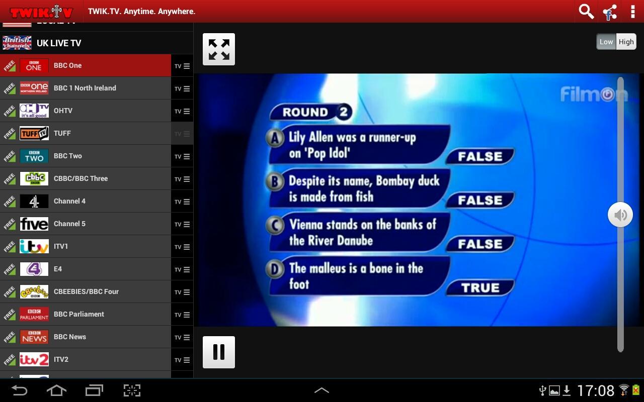 FilmOn TV Free Chromecast DLNA