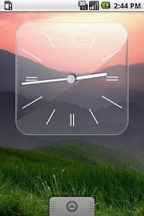 Glass Clock Widget 3 sizes