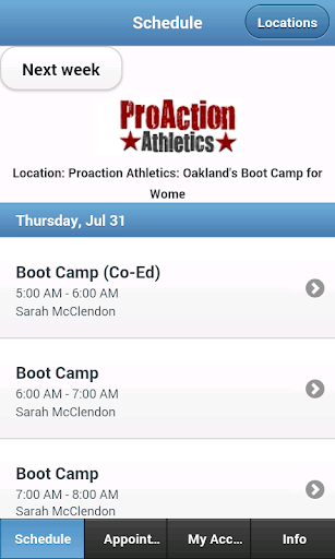 ProAction Athletics Bootcamp